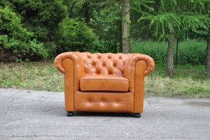 Fotel Pikowany Chesterfield Classic Skóra Naturalna