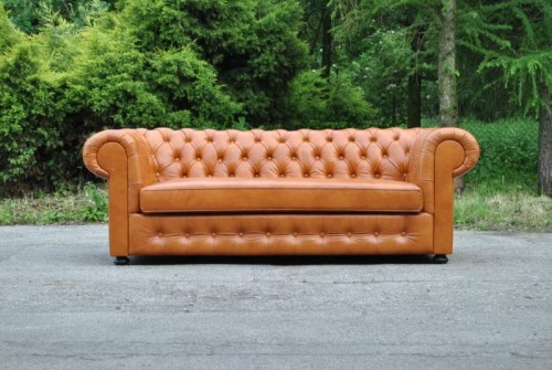Sofa 3-osobowa Chesterfield Classic Skóra Naturalna